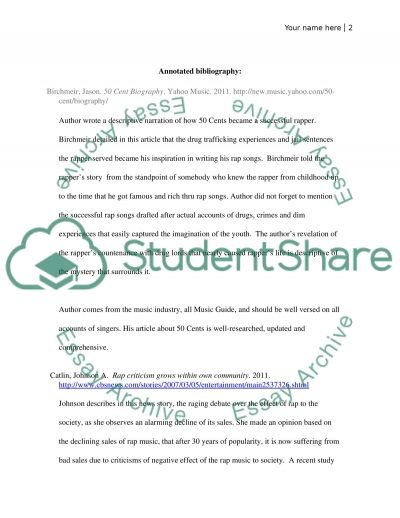 Proposal & annotated Bib essay example