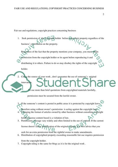 Student Use of Copyrighted Materials in Academic and Creative Work