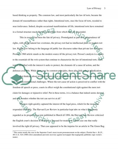 Law of Privacy Essay example
