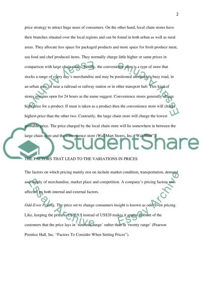 Marketing Assignment essay example