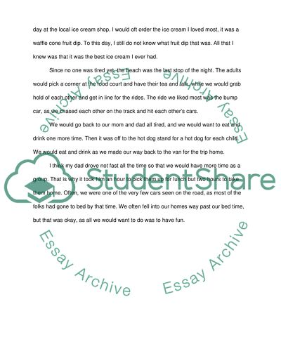 Favorite Childhood Memory Essay Example  Topics And Well Written  Favorite Childhood Memory