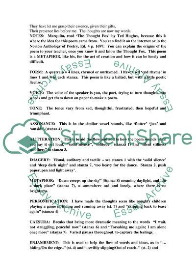 Poem High School Essay