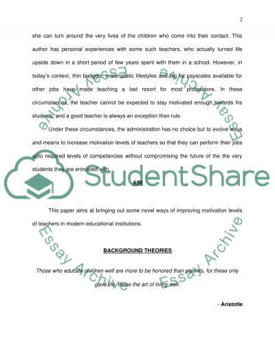 Motivation in Educational Institutes essay example