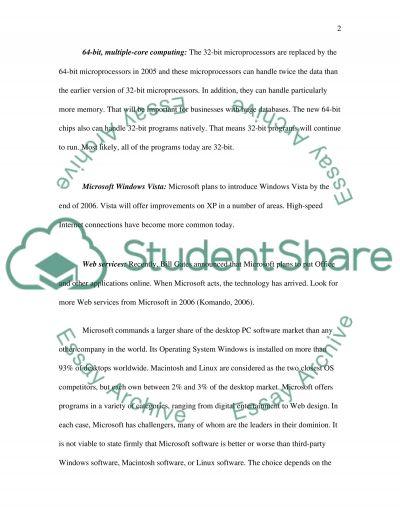 Microsoft essay example