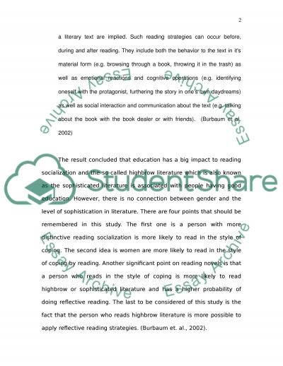 Learning Human Nature From Novels. Essay example