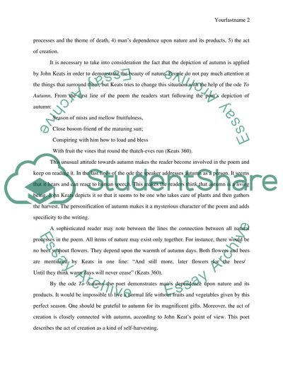 Essay About Science And Technology Close Reading Of A Poem To Autum By John Keats Who Can Write Me A Book Report also Protein Synthesis Essay Close Reading Of A Poem To Autum By John Keats Essay Thesis In Essay