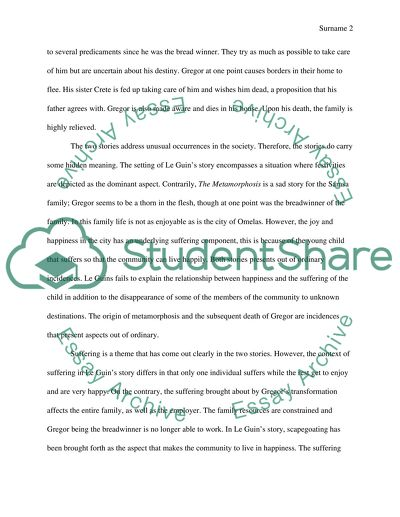 Paper Essay Comparison Between Le Guins The Ones That Walk Away From Omelas And Kafkas The  Metamorphosis Learn English Essay Writing also E Business Essay Comparison Between Le Guins The Ones That Walk Away From Omelas And  Proposal Essay Topics Ideas