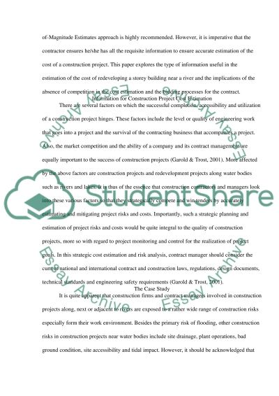 Estimating and purchasing cost control essay example