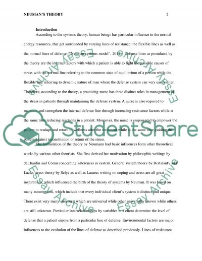 Global Perspective of a Nursing Theory Essay example