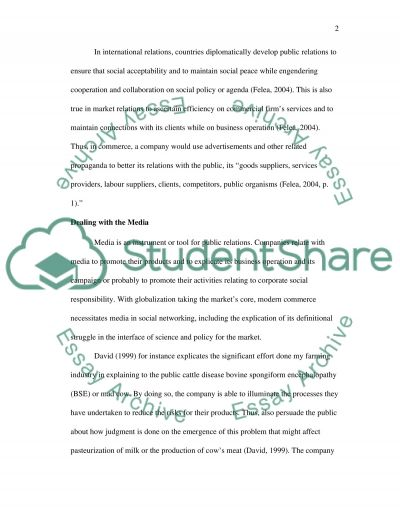 The Roles of Pubic Relations in Crisis Managment essay example