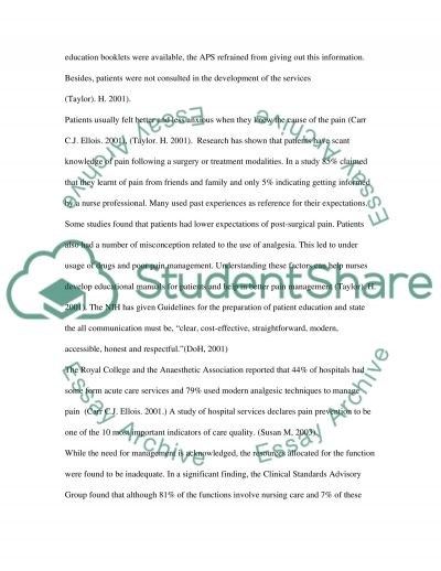 Nursing in a Day Surgery essay example