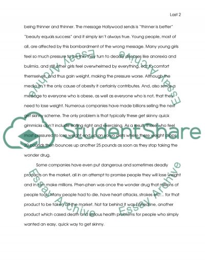Obesity College Essay essay example
