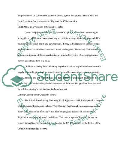rights of the child and the childcare essay example  topics and  rights of the child and the childcare