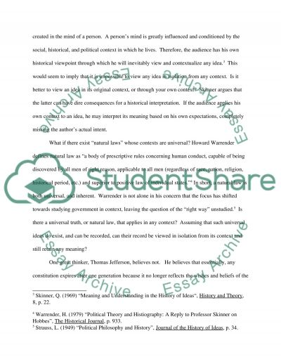 Philosophical Ideas essay example