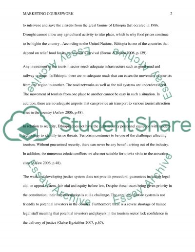 Marketing coursework essay example