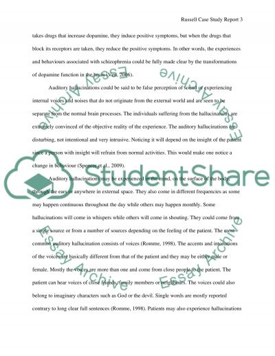Russell Case Study Report essay example
