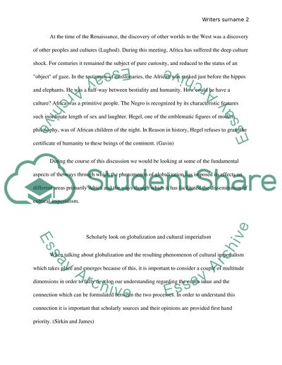 Essay Thesis Statement Examples Scholarly Look On Globalization And Cultural Imperialism  Essay Example Interesting Essay Topics For High School Students also Computer Science Essays Scholarly Look On Globalization And Cultural Imperialism Essay What Is A Thesis In An Essay