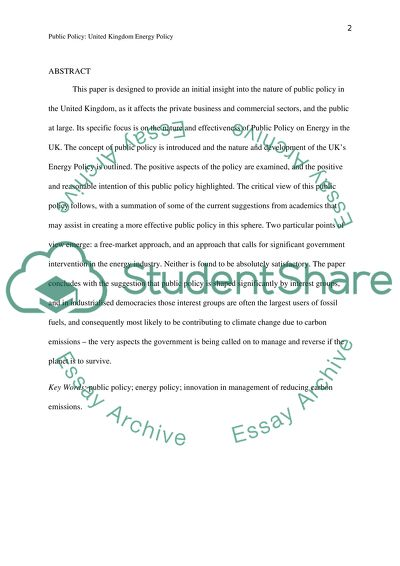 Essay Writing Topics For High School Students Uk Energy Sustainability Public Policy Proposal Essay Template also How To Write A Business Essay Uk Energy Sustainability Public Policy Essay Example  Topics And  Thesis Statement For Education Essay