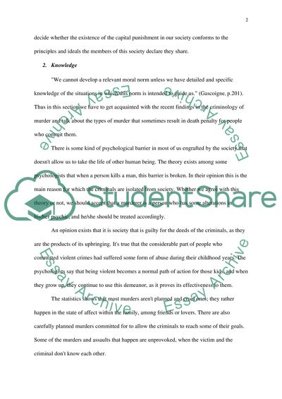 write an essay giving your opinion about capital punishment