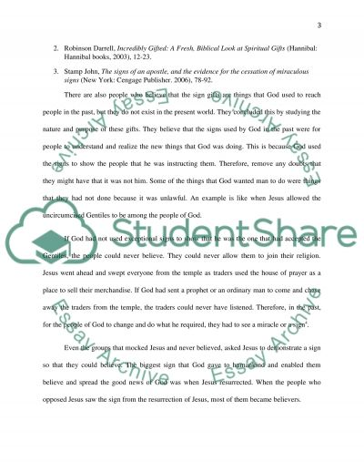 The Charismatic Gifts Debate essay example