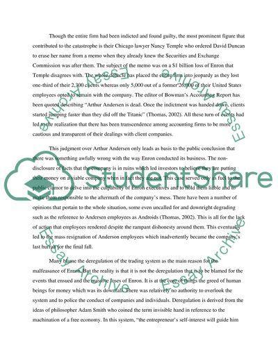 Essay On Enron Scandal - Words | Cram