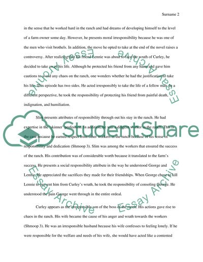 Essay Learning English Theme Of Responsibility In Of Mice And Men What Is Thesis In Essay also Narrative Essays Examples For High School Theme Of Responsibility In Of Mice And Men Essay   The Importance Of Learning English Essay