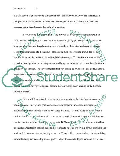 Nursing Paper Essay