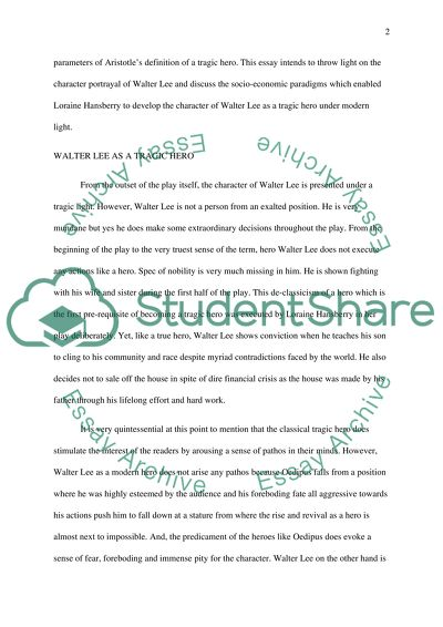 A Raisin In The Sun Essay Example  Topics And Well Written Essays  A Raisin In The Sun