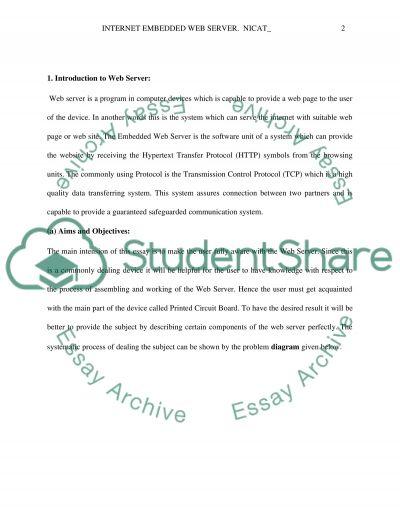 Embedded Web Server essay example