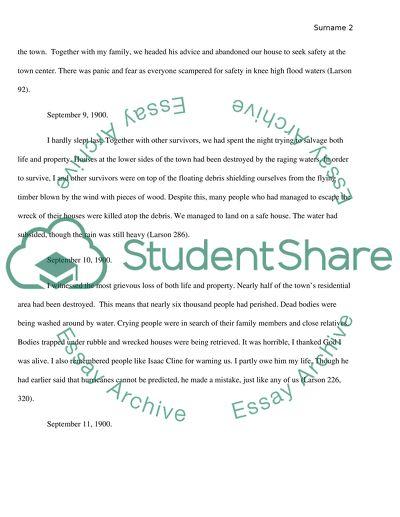 Isaacs Storm book essay