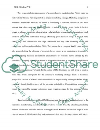 Phil Company II Research Paper essay example