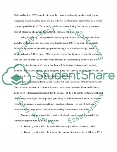 Buying Decisions of the Parents essay example