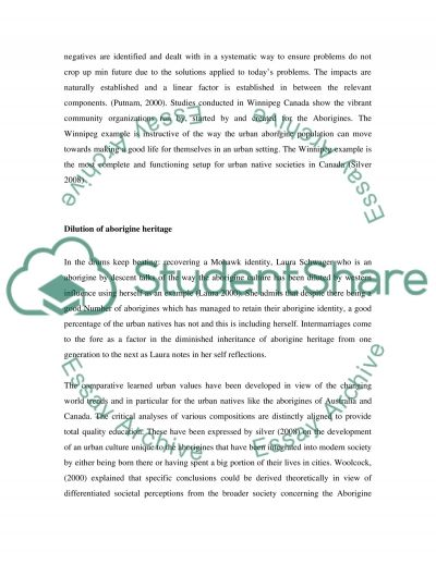 Learning Journal: focusing on the various issues in exploring Urban Native Communities essay example