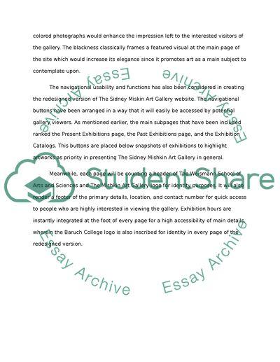 Revised website design
