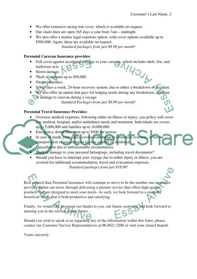 Perennial Insurance essay example