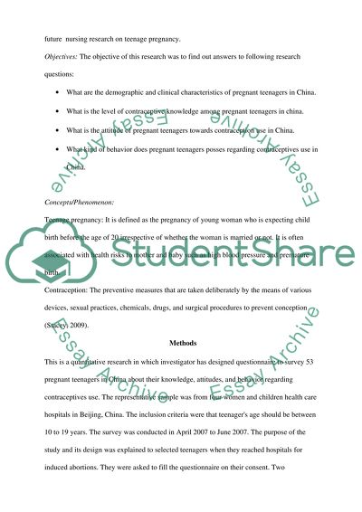 Research Article Summary