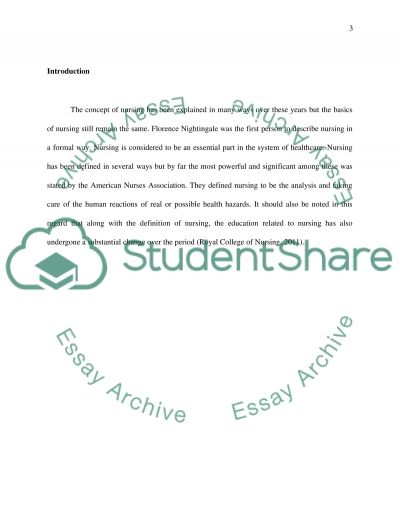 Nursing Practices Over the Years essay example