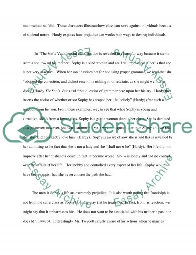 Pre 1914 Prose essay example