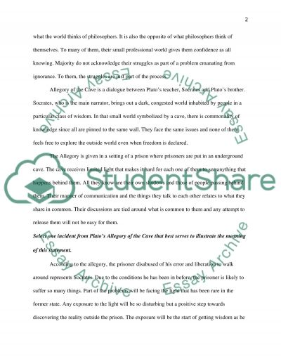 student essay allegory Definition and a list of examples of essay an essay is a short piece writing, either formal or informal, which expresses the author's argument.