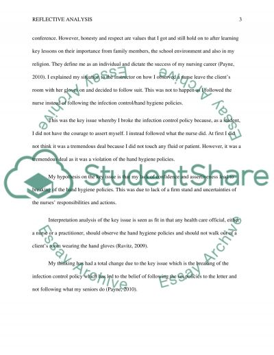 Reflective Analysis Essay example
