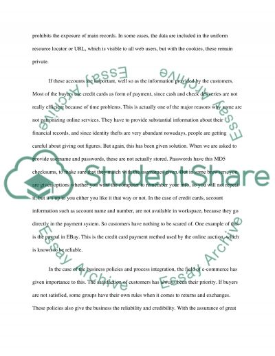 E-commerce College Essay essay example