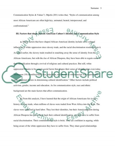 cultural identity african american essay example topics and text