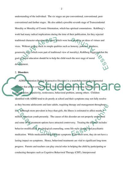 moral education in schools essay