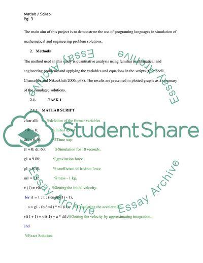 Assignment: Computational mathematics (MATLAB/SciLab)