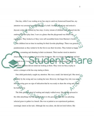 descriptive essay on playground Descriptive essay — my secondary school on the other hand, some students will play sports in the playground, lining up to buy stationaries.