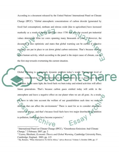 Global Warming. Who is responsible essay example