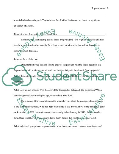 Ethics and sustaibanbility essay example