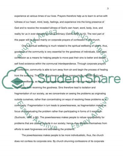 Ways of Praying essay example