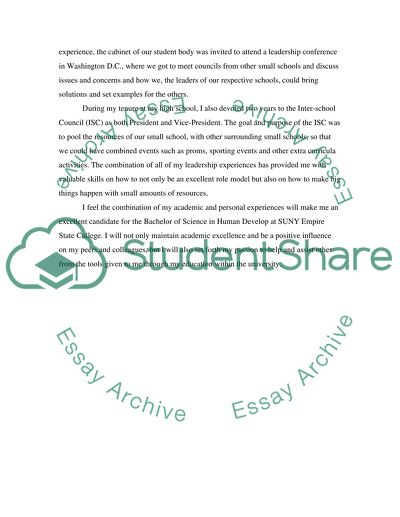 Suny application essay