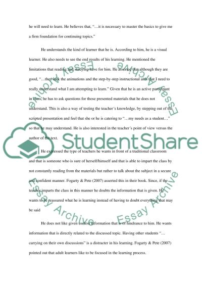 ADULT LEARNERS essay example